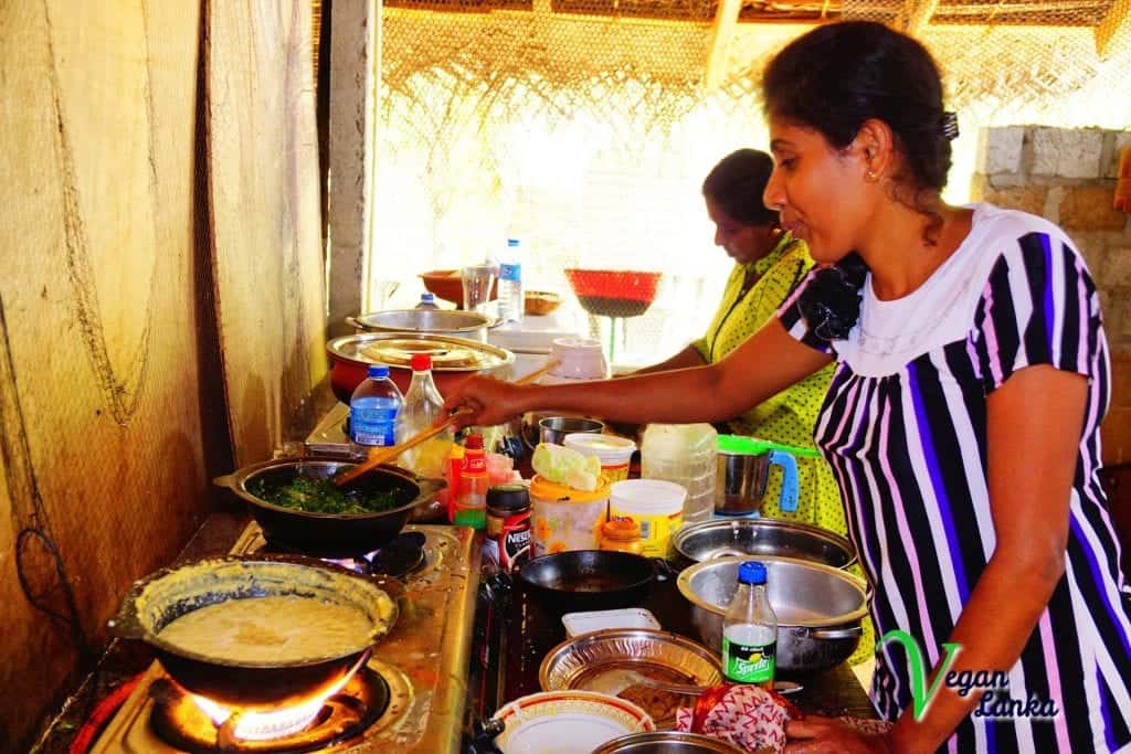 nina's restaurant with vegan options in trincomalee Sri Lanka