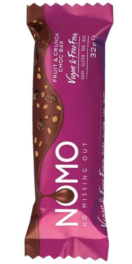 Nomo - Vegan Fruit & Crunch Choc Bar