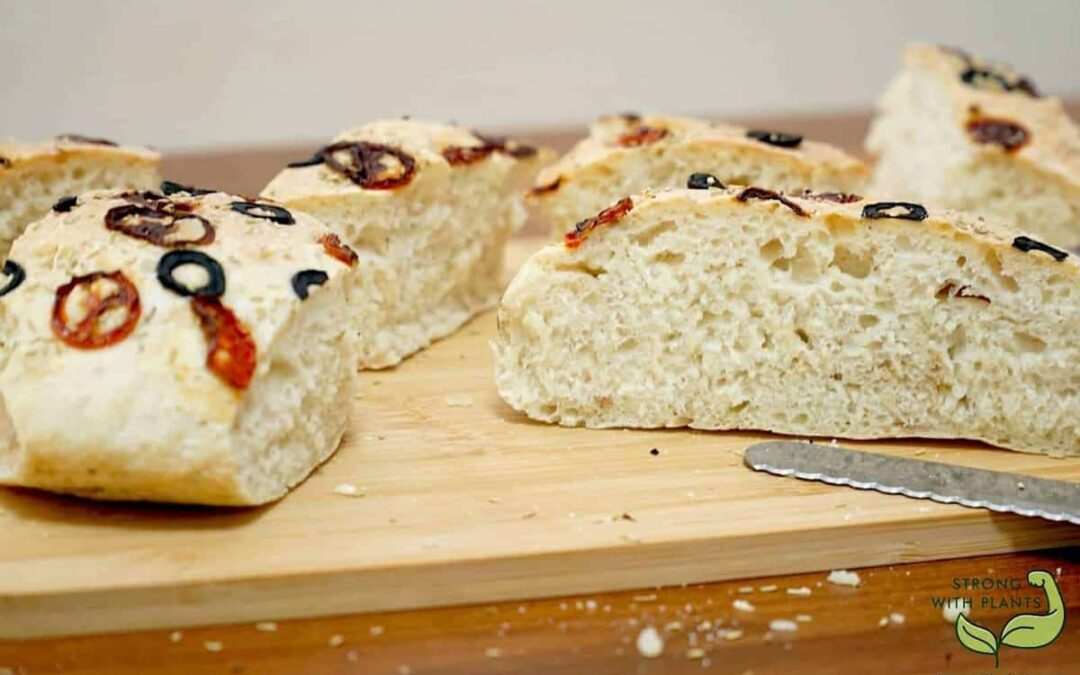 Oil-Free Vegan Focaccia Bread Using Air Fryer
