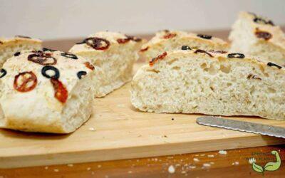 Recipe: Oil-Free Vegan Focaccia Bread Using Air Fryer