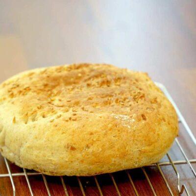 Oil-Free, Vegan, German Potato Bread - Kartoffelbrot