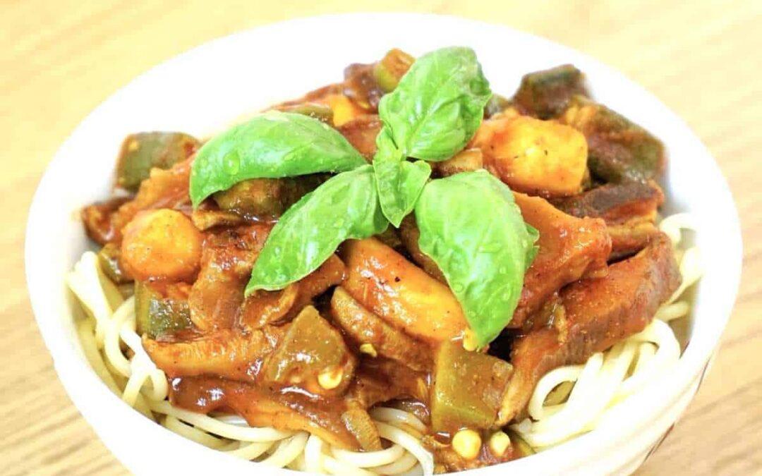 Super Easy Recipe: Oil-free, Vegan Spaghetti Fungi Bolognese