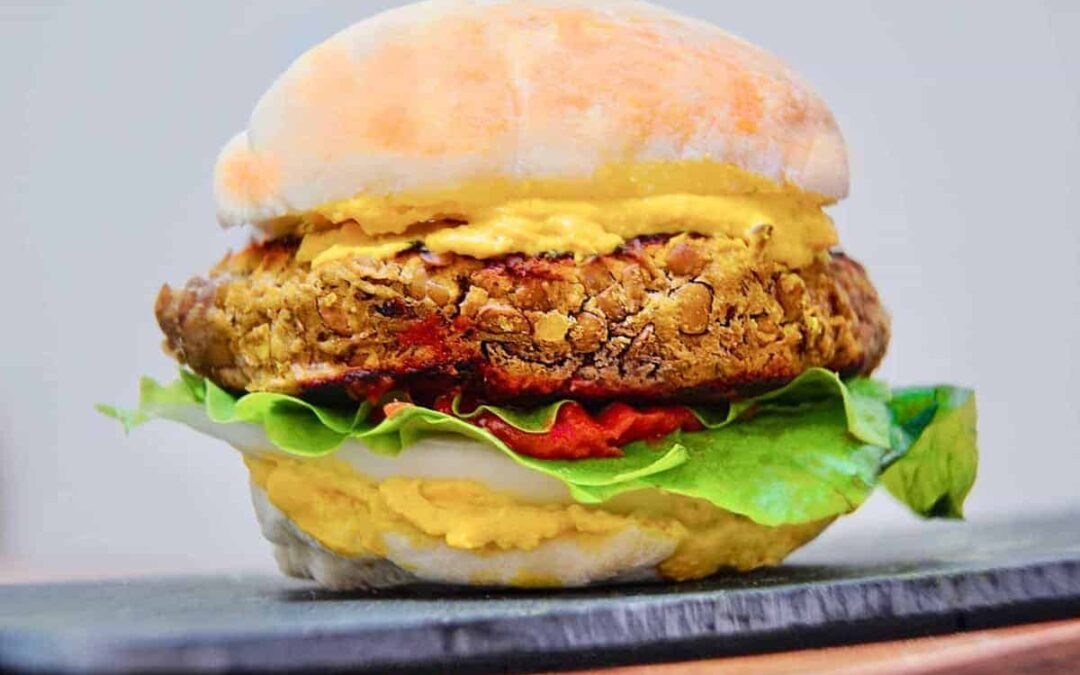 Homemade Oil-Free Veggie Burger