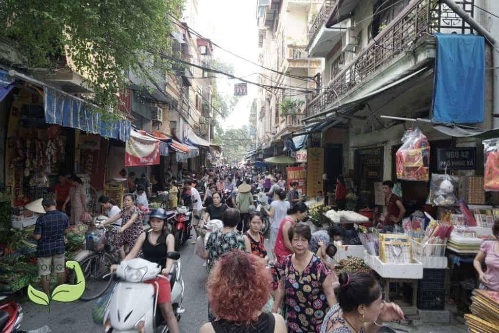 Day-Market in Hanoi Vietnam