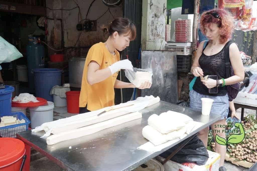 Buying Freshly-made Tofu