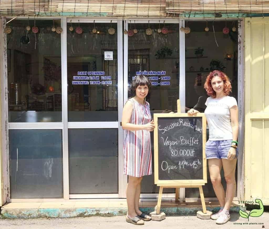 Me and The Owner of Sesame Restaurant in Hanoi Vietnam