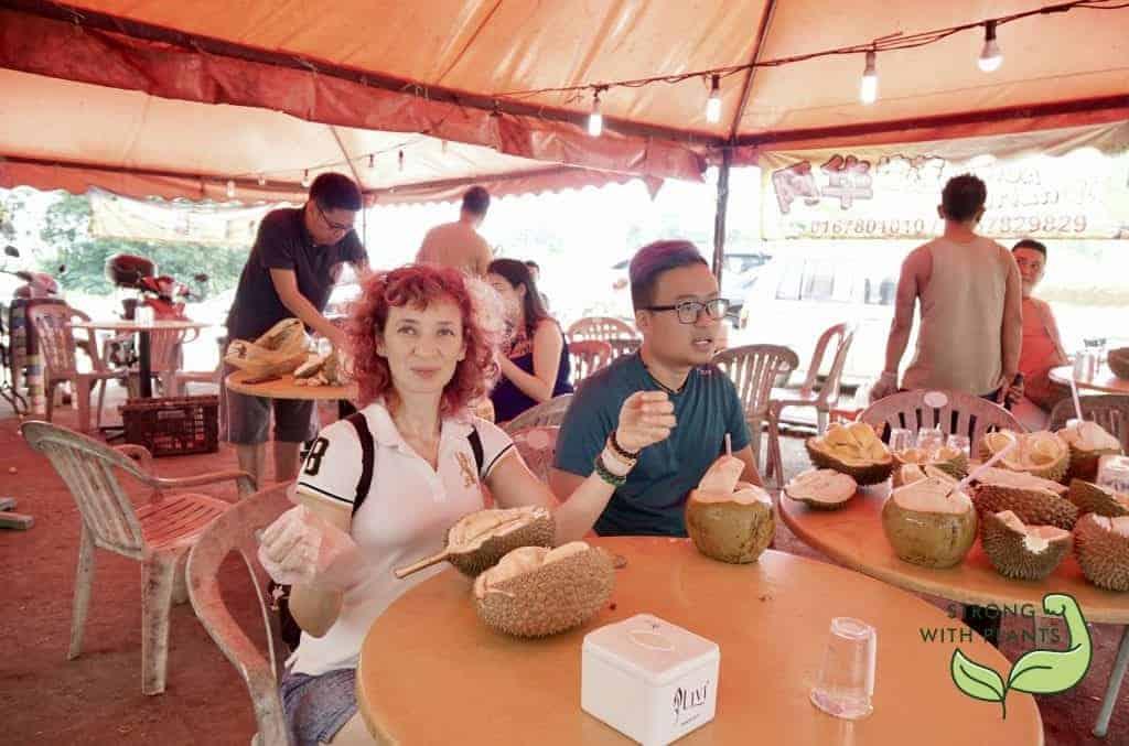Enjoying F1 Durian