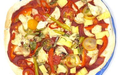 Homemade Vegan Thin Crust Pizza