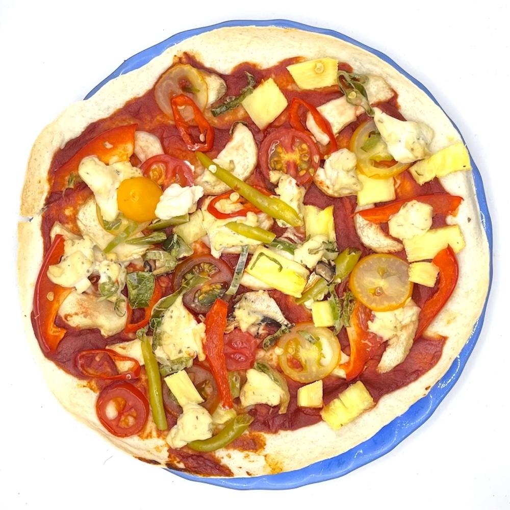 Homemade Thin-Crust Vegan Pizza