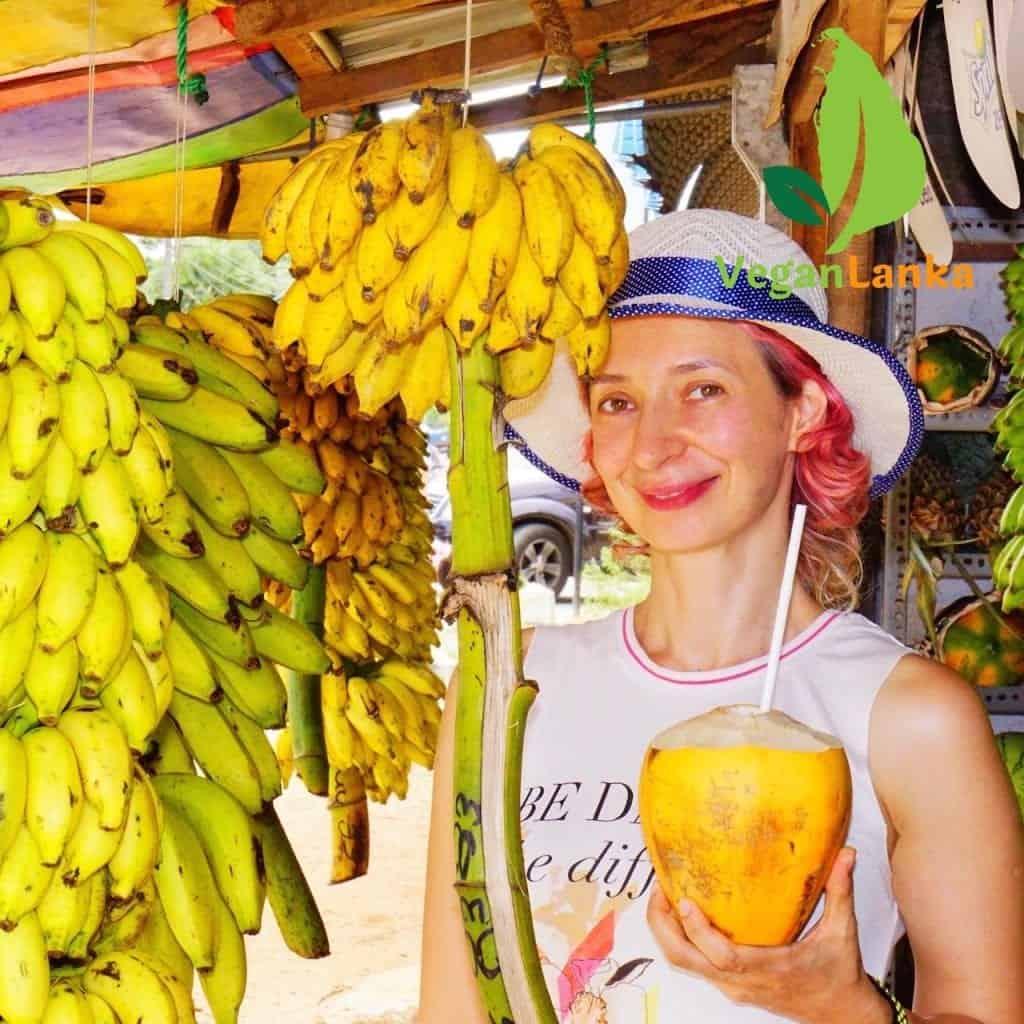 Yellow and Green Bananas in Sri Lanka