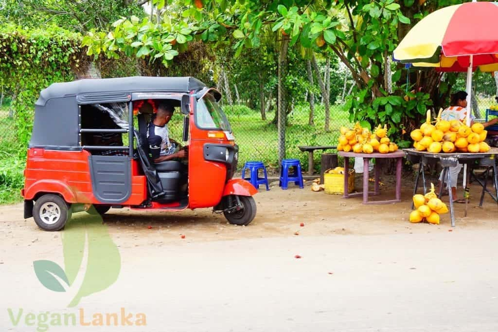 A King Coconut Fruit Stand