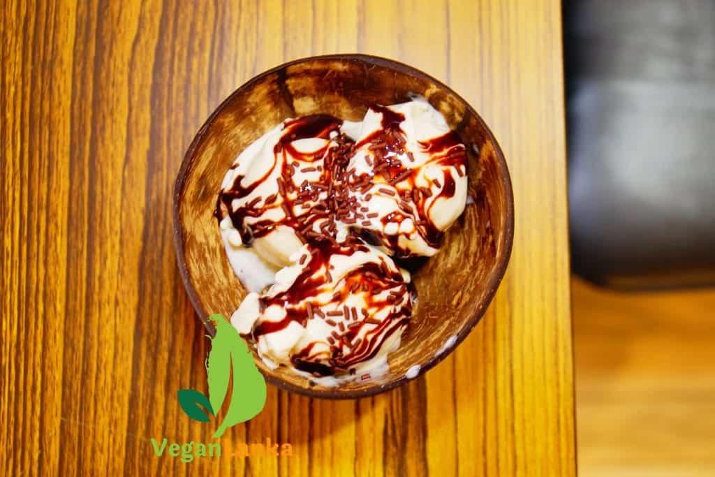 Banana flavoured Vegan Ice Cream