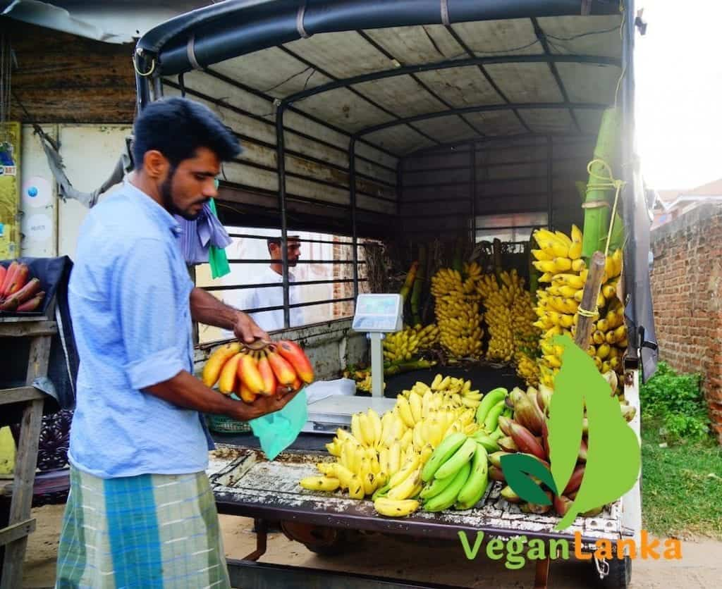 Red Bananas selling by the roadside in Mannar