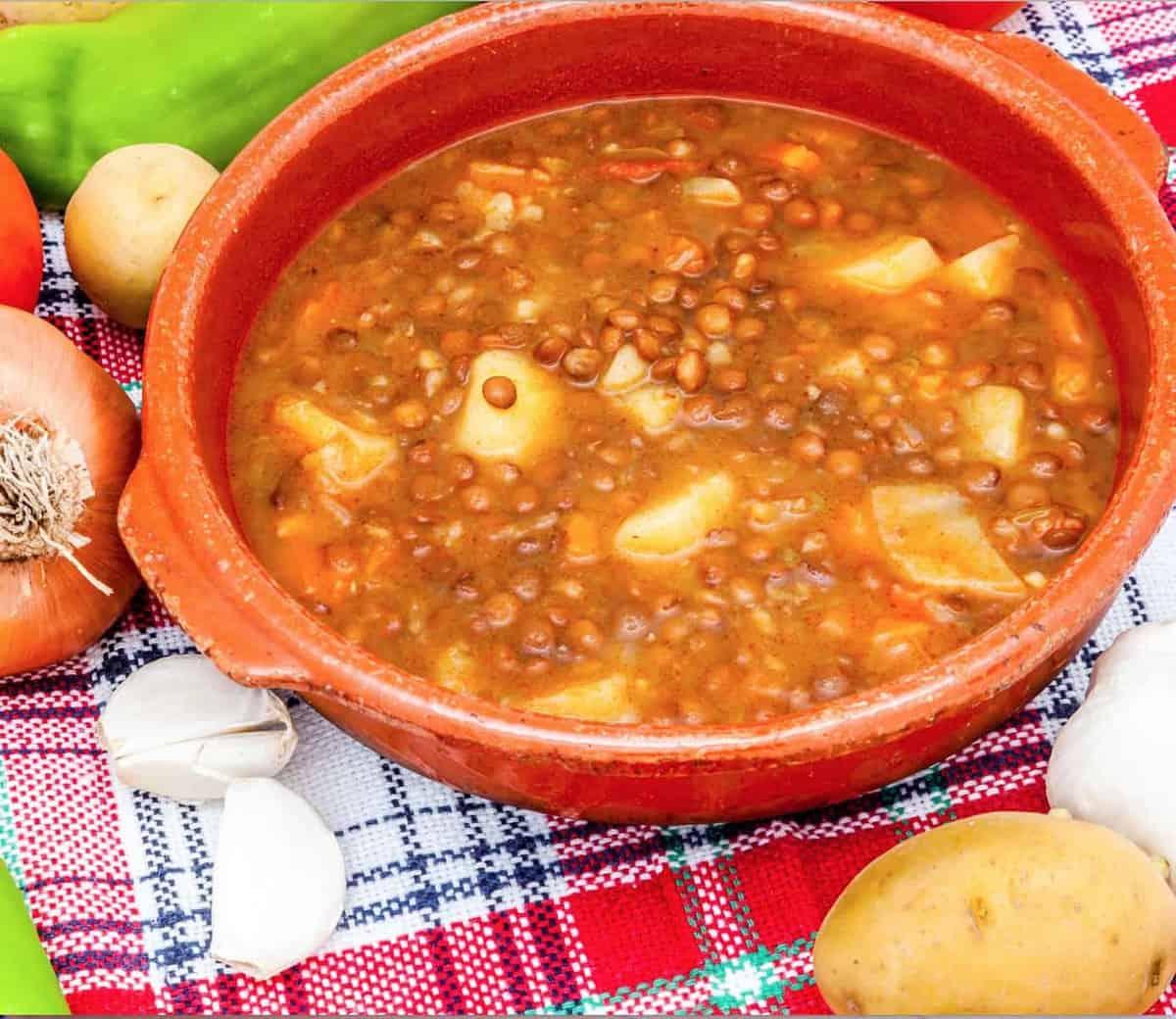 Vegan Brown Lentil Soup
