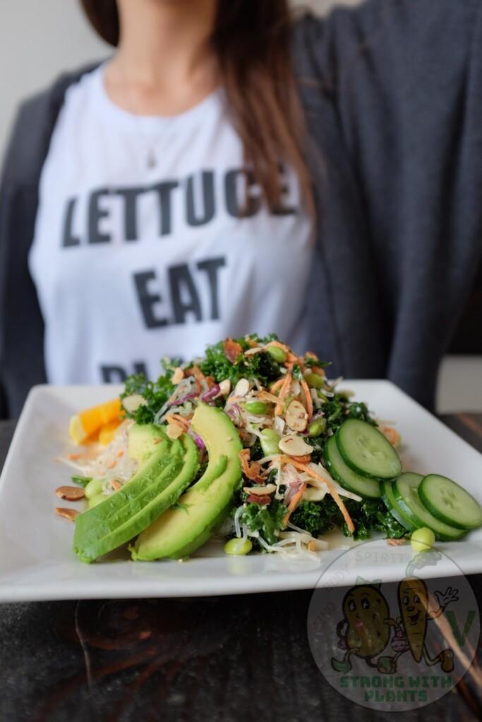 Avocado in salad